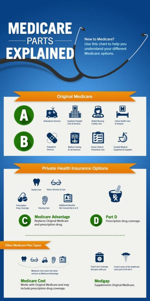 Medicare Parts Explained Infographic